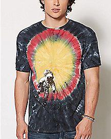 Tie Dye Astronaut T Shirt