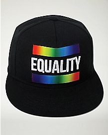 Black Rainbow Equality Snapback Hat