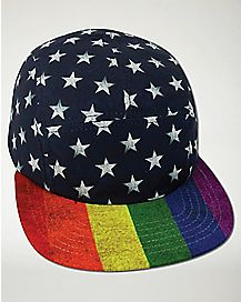 Rainbow Flag and Stars Camper Hat