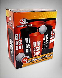 Big Ass Cup Jumbo Beer Pong Set  - 46 oz.