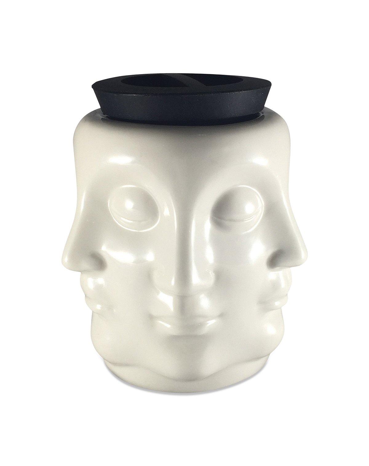 Buddha faces storage jar
