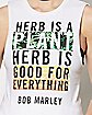 Herb Is A Plant Bob Marley Tank Top