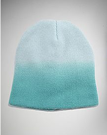Ombre Teal Beanie Hat