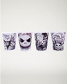 Nightmare Before Christmas Mini Glass 4 Pack - 1.5 oz