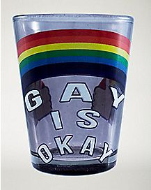 Gay Is Okay Shot Glass