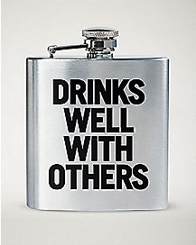 Drinks Well With Others Flask - 8 oz