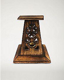 Mini Wood Tower Incense Burner