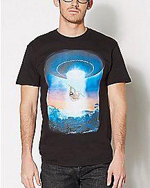 Sloth UFO Beam Up T Shirt