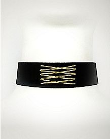 Suede Chain Choker Necklace