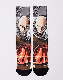 Sublimated One Punch Man Crew Socks
