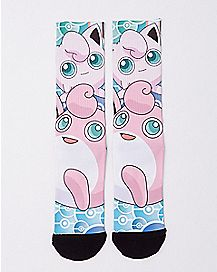 Sublimated Jigglypuff Crew Socks - Pokemon