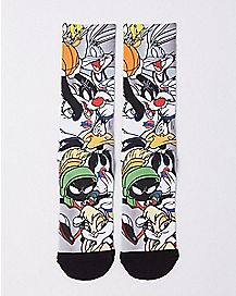 Sublimated Toon Squad Crew Socks - Space Jam