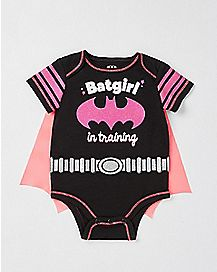 Caped Batgirl In Training Baby Bodysuit - DC Comics