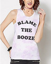 Blame the Booze Tie Dye Tank Top