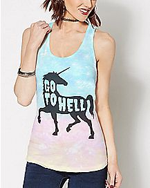 Go To Hell Unicorn Tank Top