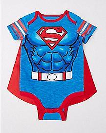 Caped Superman Baby Bodysuit