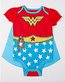 Caped Wonder Woman Baby Bodysuit - DC Comics