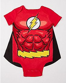 Caped The Flash Baby Bodysuit - DC Comics