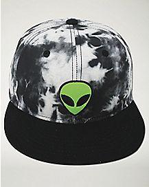 Tie Dye Alien Snapback Hat