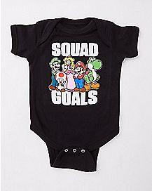 Squad Goals Bodysuit - Super Mario