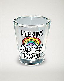 Rainbows Are Gay Shot Glass - 1.5 oz
