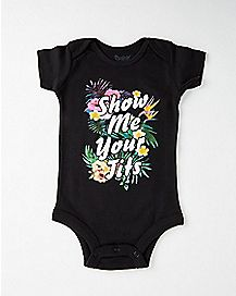 Floral Show Me Your Tits Baby Bodysuit
