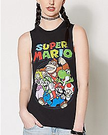 Character Super Mario Brothers Muscle Tank Top