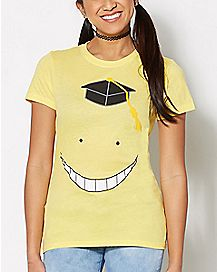 Yellow Face Assassination Classroom T Shirt