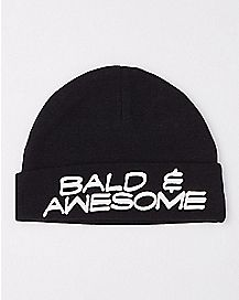 Bald and Awesome Baby Beanie