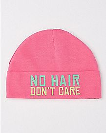 No Hair Don't Care Baby Beanie Hat