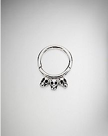 Skull Clicker Septum Ring - 16 Gauge