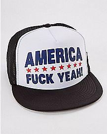 America Fuck Yeah Trucker Hat