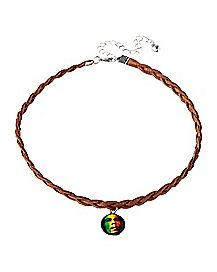 Rasta Bob Marley Choker Necklace