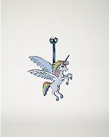 Cz Unicorn Belly Ring - 14 Gauge