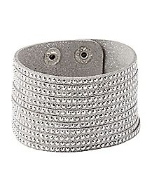 Silver CZ Wrap Bracelet