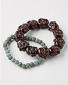Stone and Buddha Bracelets - 2 Pack