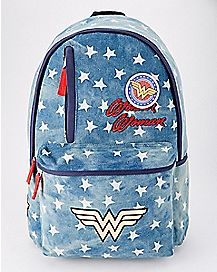 Denim Patch Wonder Woman Backpack - DC Comics