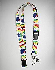 Tie Dye Blotch Lanyard