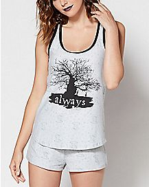 Always Harry Potter Tank Top and Shorts Set