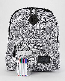 DIY Mandala Coloring Dickies Backpack