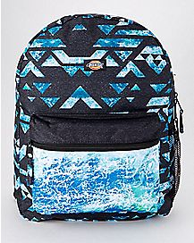 Geo Print Ocean Backpack
