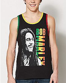 Rasta Name Bob Marley Tank Top
