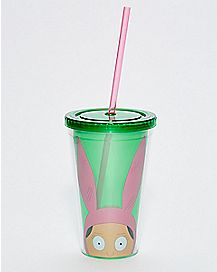 Louise Ears Bob's Burgers Cup with Straw - 16 oz.