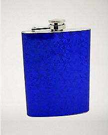Blue Geometric Flask - 6 oz.
