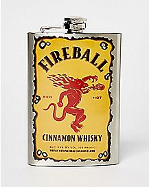 Logo Fireball Flask - 8 oz.