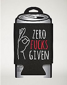 Zero Fucks Given Can Cooler