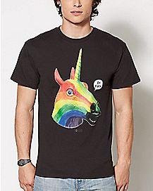 Oh Fuck Rainbow Unicorn T Shirt