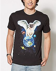 Pug Imagine Planets T Shirt