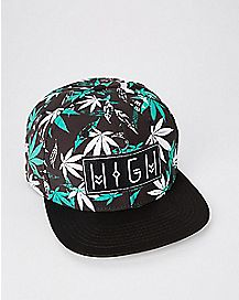 Pot Leaf High Snapback Hat