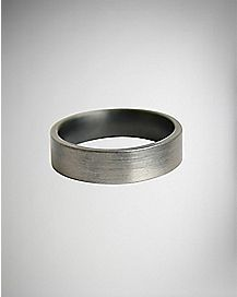 Distressed Steel Ring - Size 10